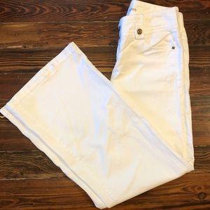 Michael Kors White Denim Wide Leg Jeans